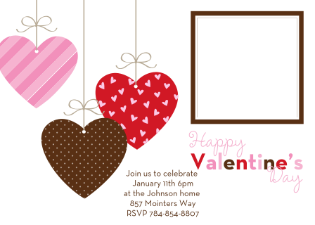 Valentine's Day party invitations - placesetting