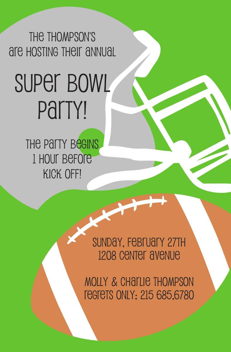 This is an image of Terrible Super Bowl Party Invitations Free Printable